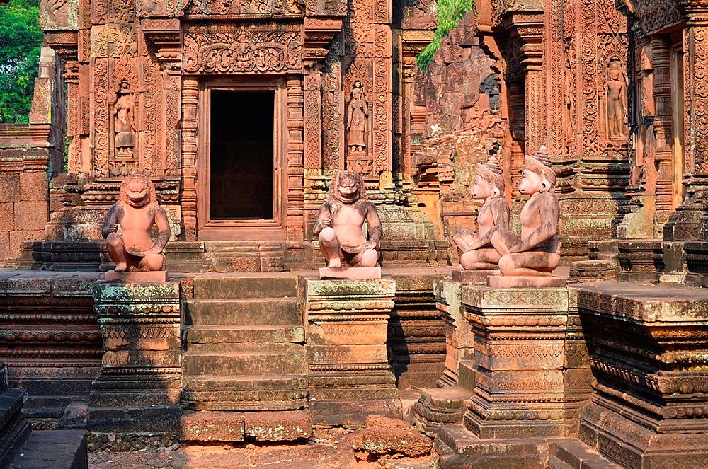 Banteay Srei Temple. Angkor. Camboya
