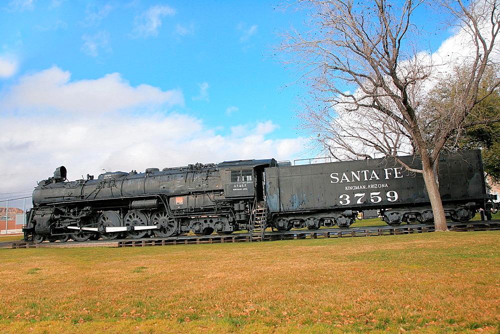 Kingman steam train, Historic Route 66, From Kingman to Seligman, Arizona, USA.