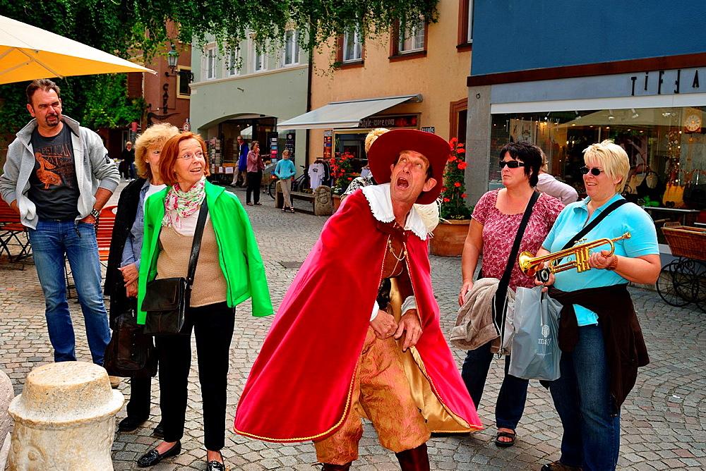 The Trompeter of Bad Saeckingen, literary figure of Joseph Victor von Scheffel, lives for tourists still