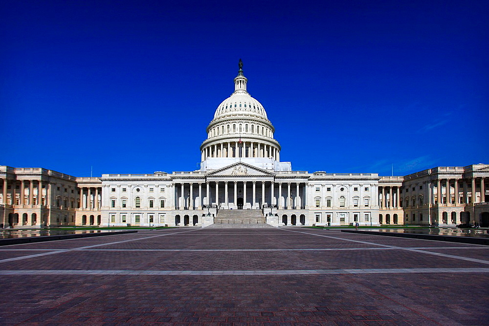 The United States Capitol is the capitol building that serves as the location for the United States Congress, the legislative branch of the U S  federal government  It is located on top of Capitol Hill at the east end of the National Mall