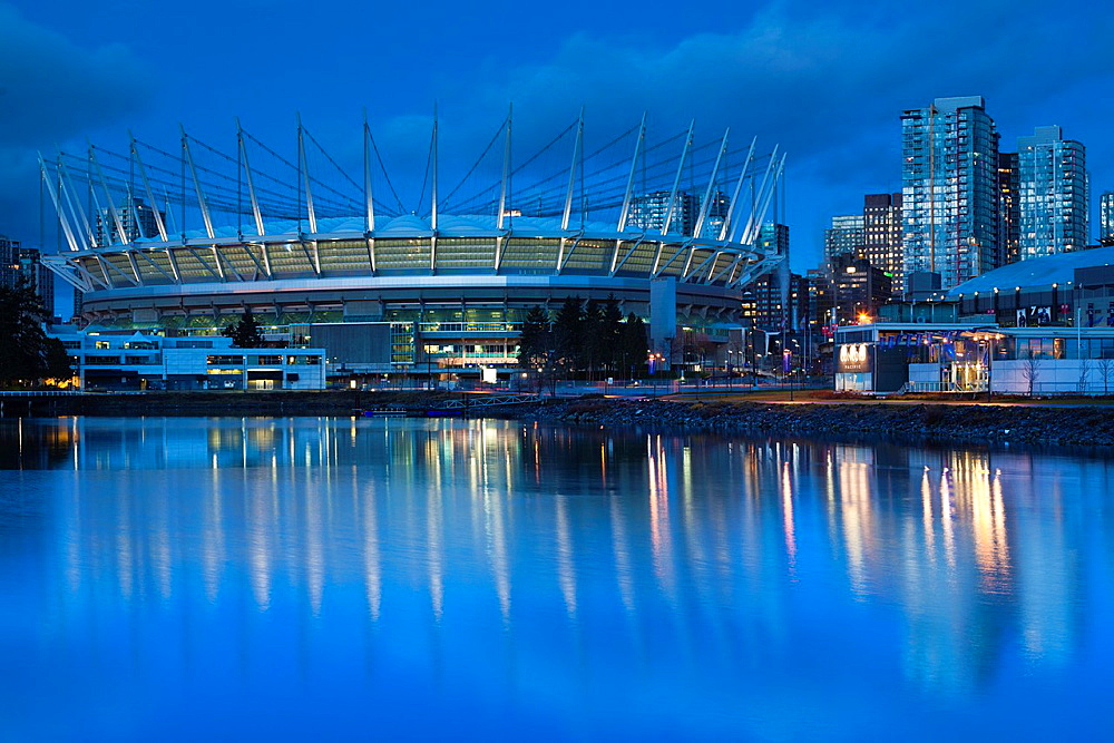 Canada, British Columbia, Vancouver, BC Place Stadium, morning