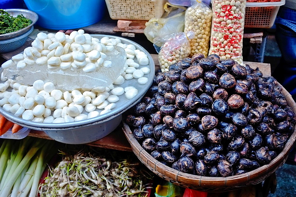 Water chestnuts for sale at Binh Tay market, Ho Chi Minh City, Vietnam