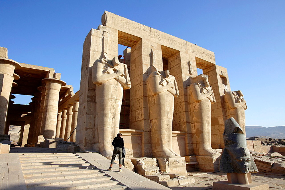 The Ramesseum, mortuary temple of Pharaoh Ramesses II, Luxor, Egypt