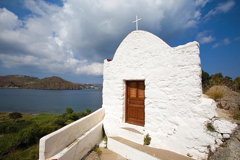 europe, greece, dodecanese, patmos island, church