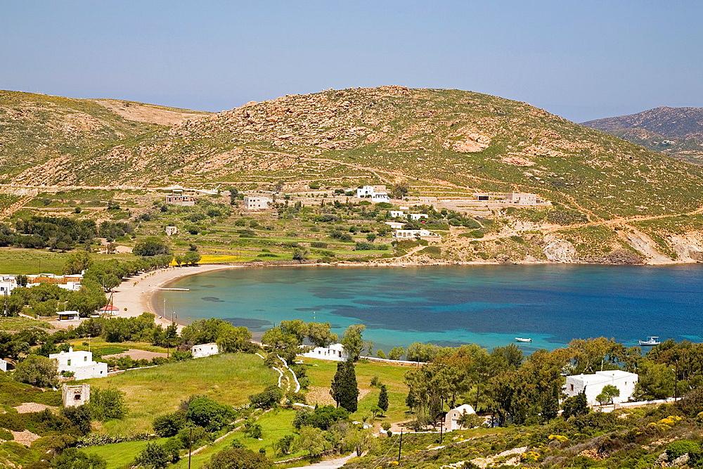 europe, greece, dodecanese, patmos island, agriolivado beach