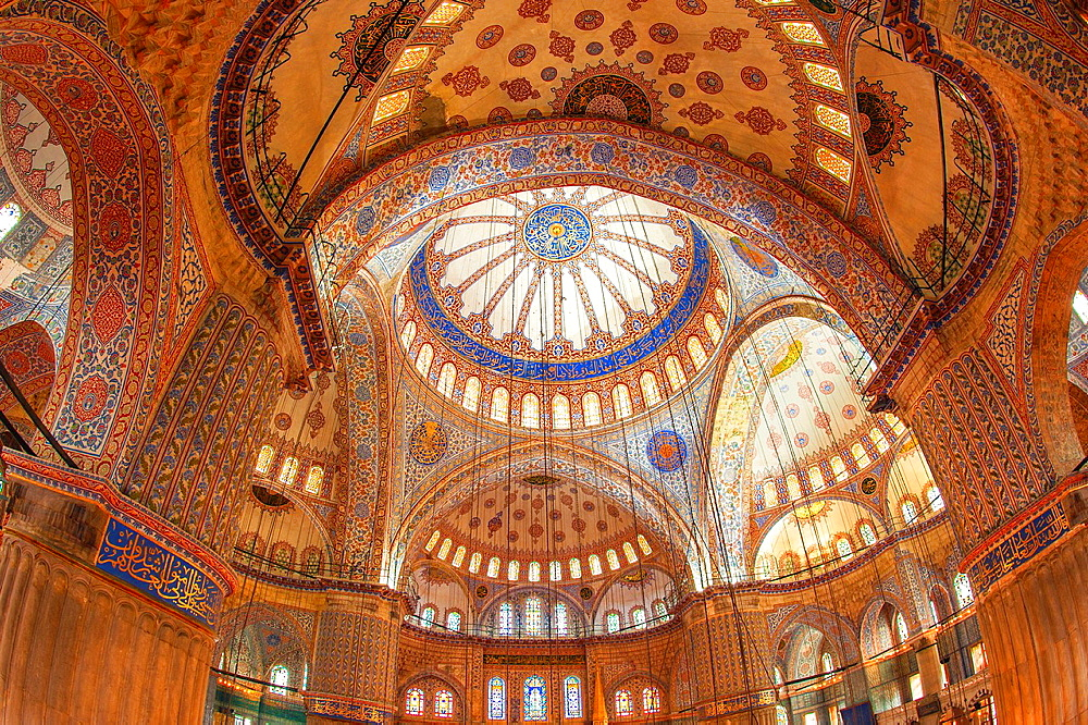 Sultan Ahmed Mosque or Blue Mosque, Main dome, Istanbul, Turkey