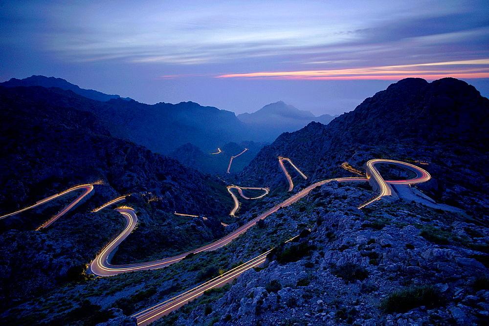 Sa Calobra road, Escorca, Sierra de Tramuntana Majorca Balearic Islands Spain