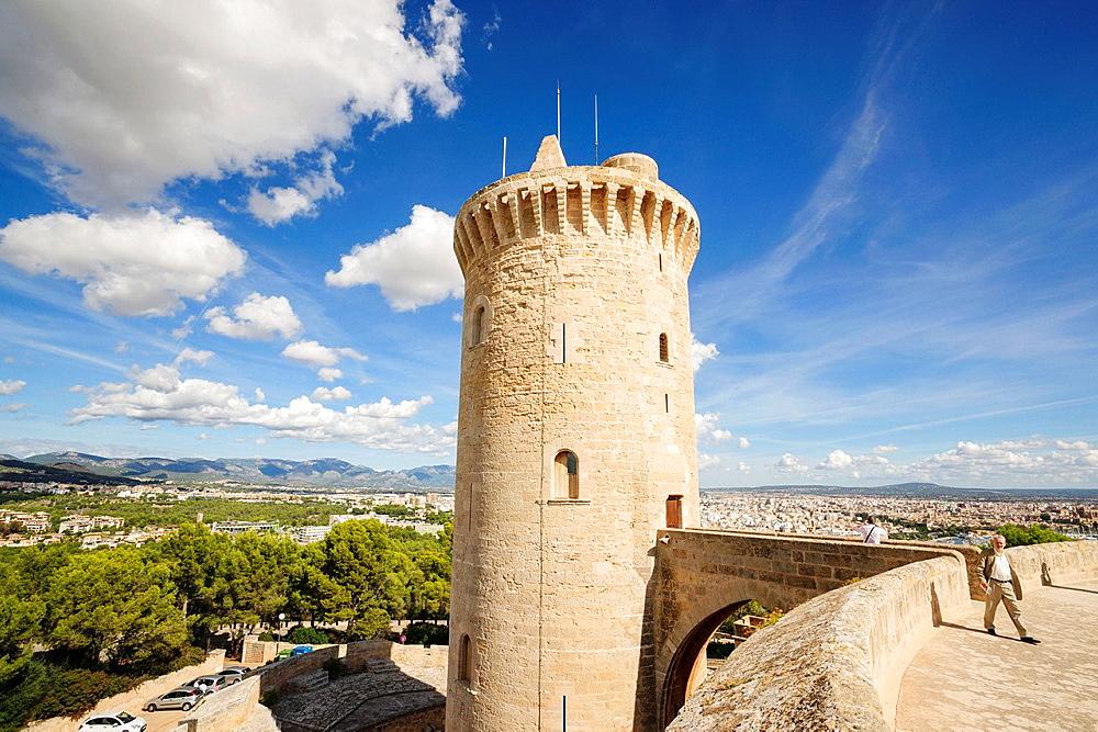 Major tower, main tower -, Bellver Castle,, XIV century -, Palma de Mallorca Mallorca Balearic Islands Spain