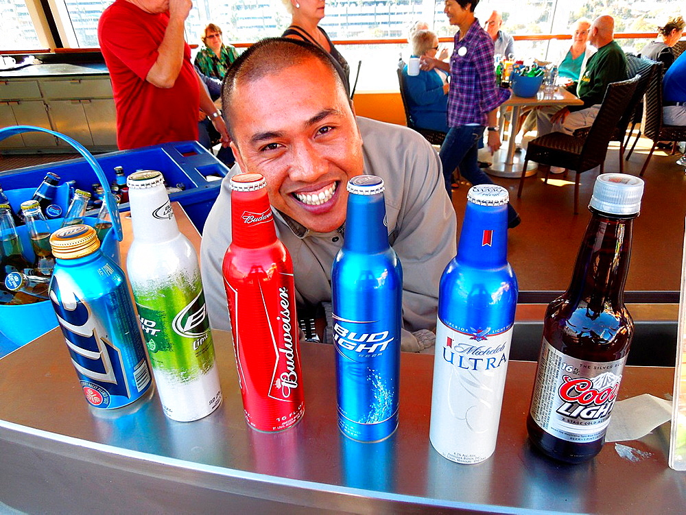 Beer display Costa Maya Mexico Beach Caribbean Cruise Ship Port