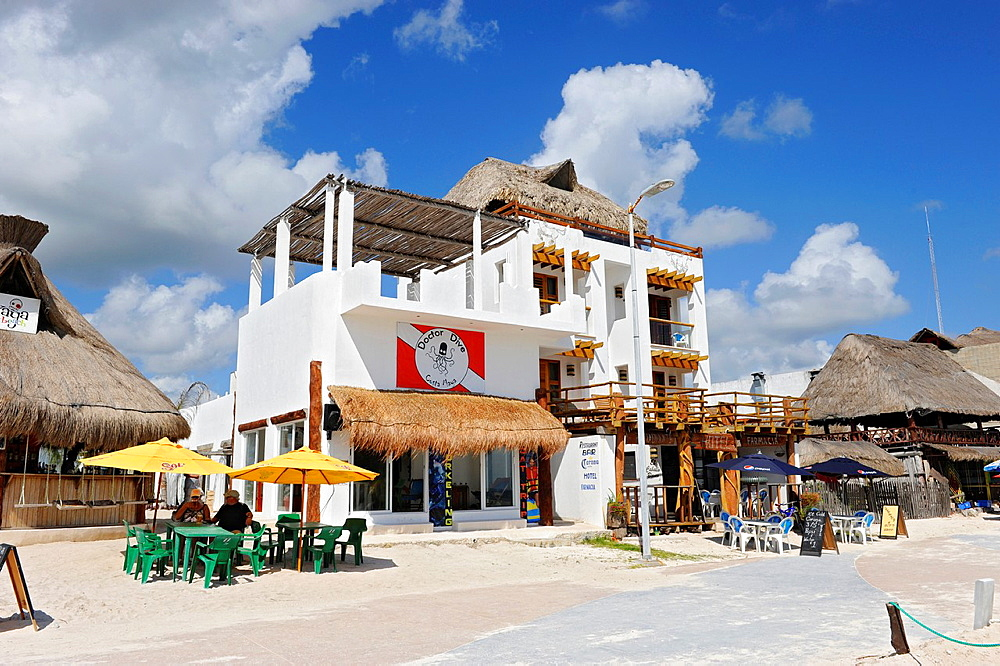 Restaurant Bar Costa Maya Mexico Beach Caribbean Cruise Ship Port