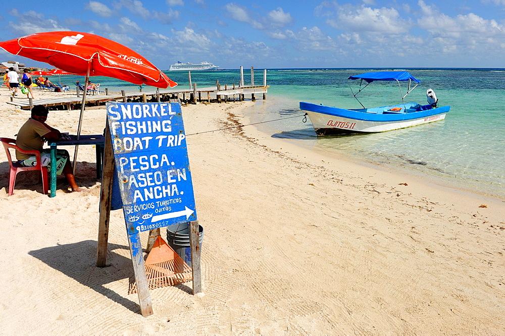 Snorkeling Excursion Costa Maya Mexico Beach Caribbean Cruise Ship Port