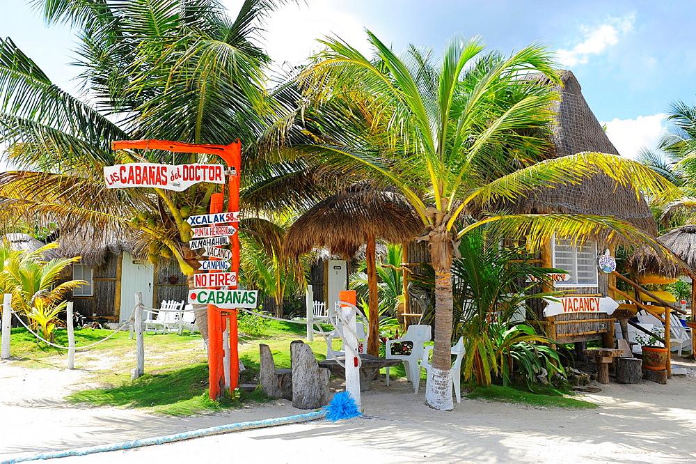 Bar and Restaurant Costa Maya Mexico Beach Caribbean Cruise Ship Port