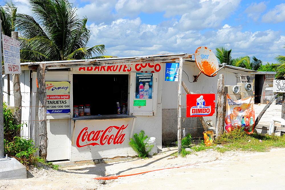 Snack Bar Costa Maya Mexico Beach Caribbean Cruise Ship Port