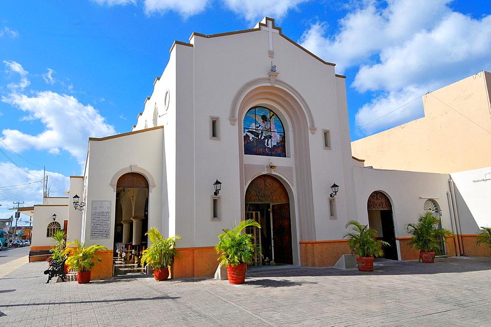 Iglesia de San Miguel Catholic Church Cozumel Mexico