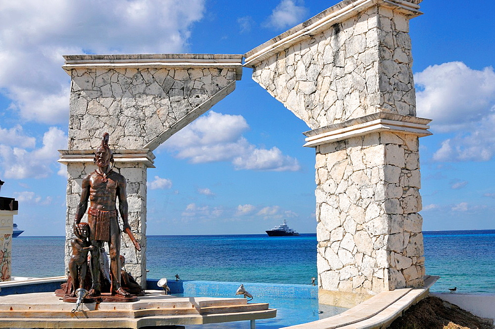 Cross Breeding Monument Cozumel Mexico Caribbean Cruise Ship Port
