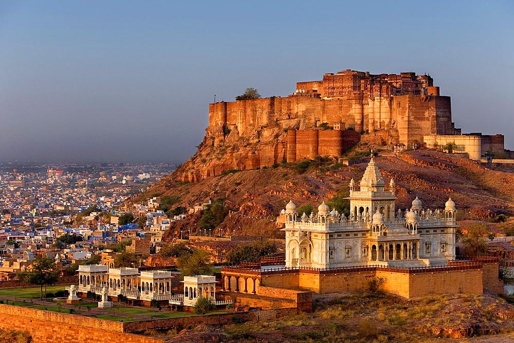 Mehrangarh Fort and Jaswant Thada,Jodhpur, Rajasthan, India