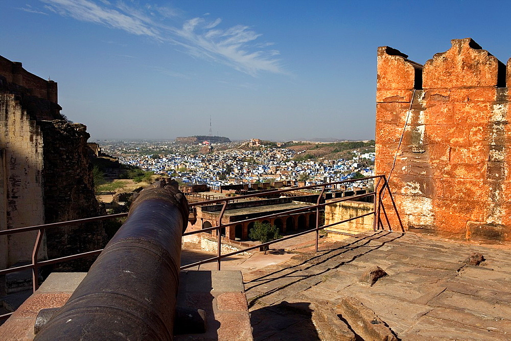 Cannon at mehrangarh fort,Jodhpur, Rajasthan, India