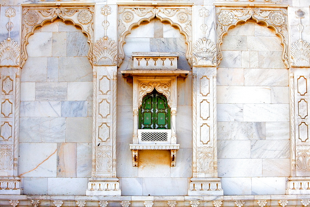 Detail of Jaswant Thada, 1899, Memorial to Maharaja Jaswant Singh II,Jodhpur, Rajasthan, India