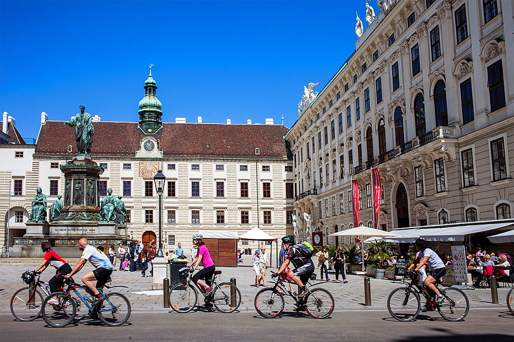 Bikes in Hofburg Imperial Palace,Vienna, Austria, Europe