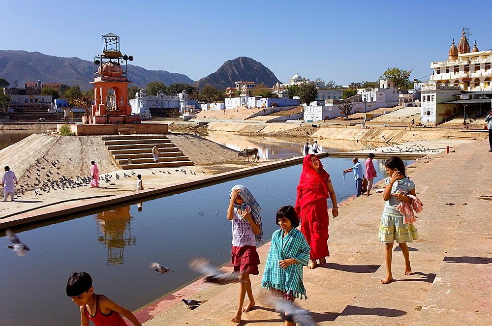 Ghats, holy lake,pushkar, Rajasthan, india