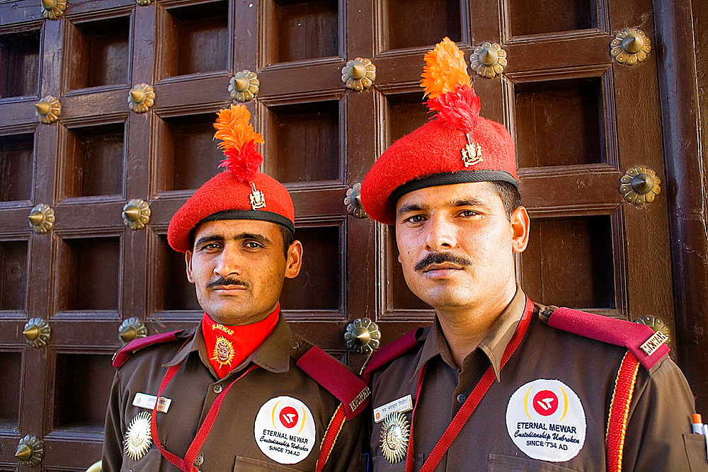 City Palace,guards,Udaipur, Rajasthan, india
