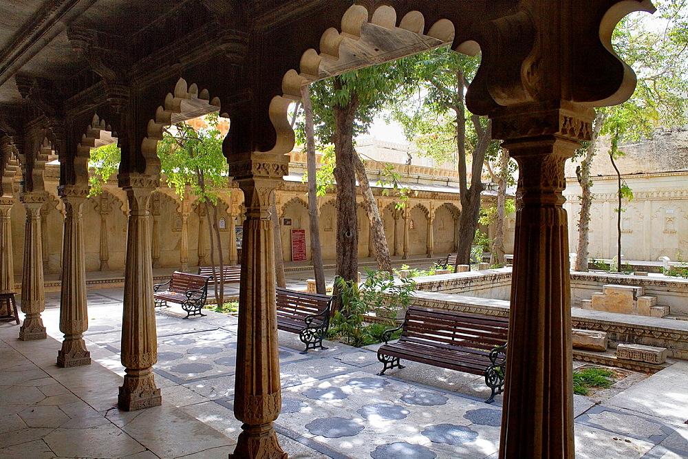 Courtyard ,City Palace,Udaipur, Rajasthan, india