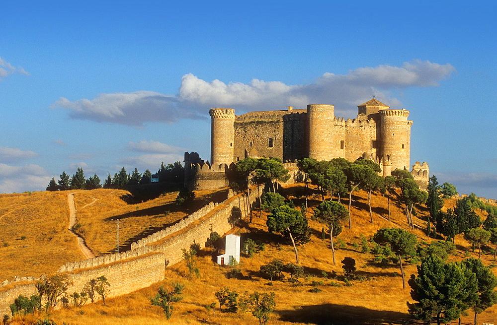 Belmonte castle 15th century,Belmonte,Cuenca province,Castilla La Mancha,the route of Don Quixote, Spain