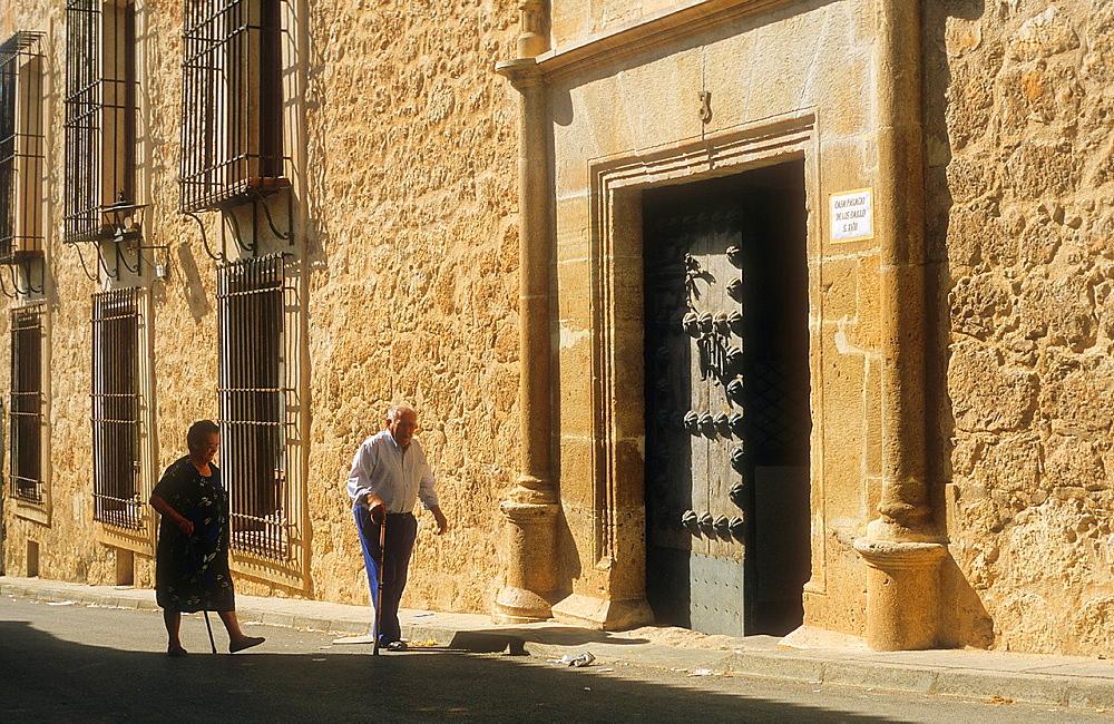 Facade of Baillo Palace, Belmonte,Cuenca province,Castilla La Mancha,the route of Don Quixote, Spain