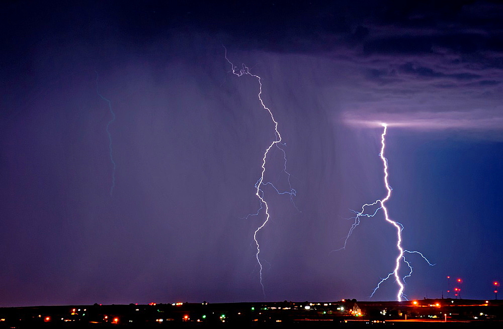 Twin Falls, Summer Lightning Storm over the city of Jerome in southern Idaho