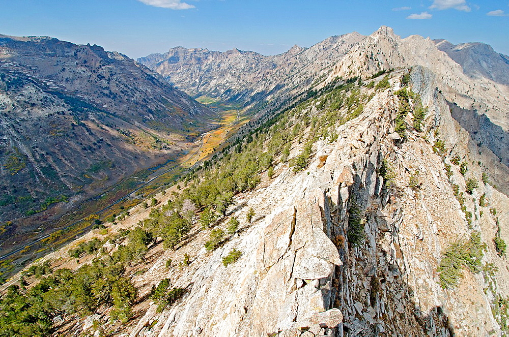 Ruby Mountains, The Ruby Crest and Lamoille Canyon in the Ruby Mountains near the city of Elko in northeast Nevada
