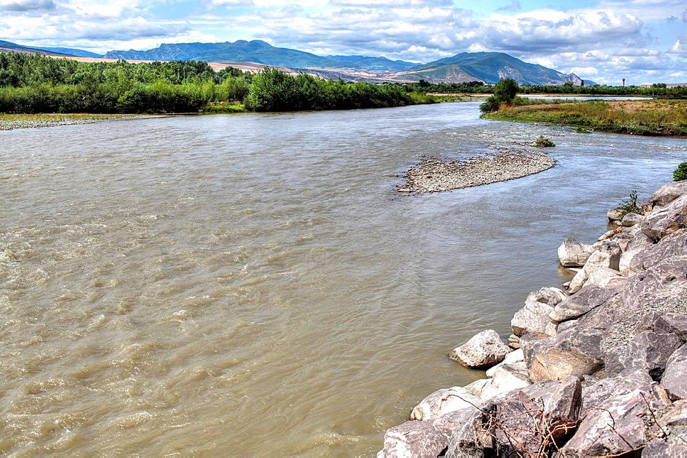 Kura river, Uplistsikhe, Shida Kartli, Georgia