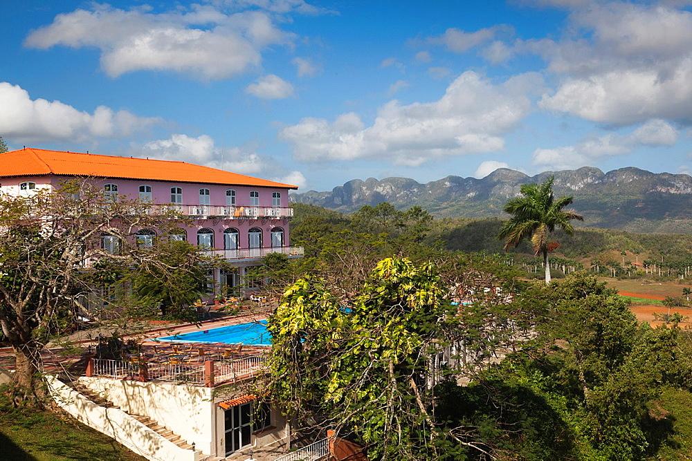 Cuba, Pinar del Rio Province, Vinales, Vinales Valley, HOtel los Jazmines