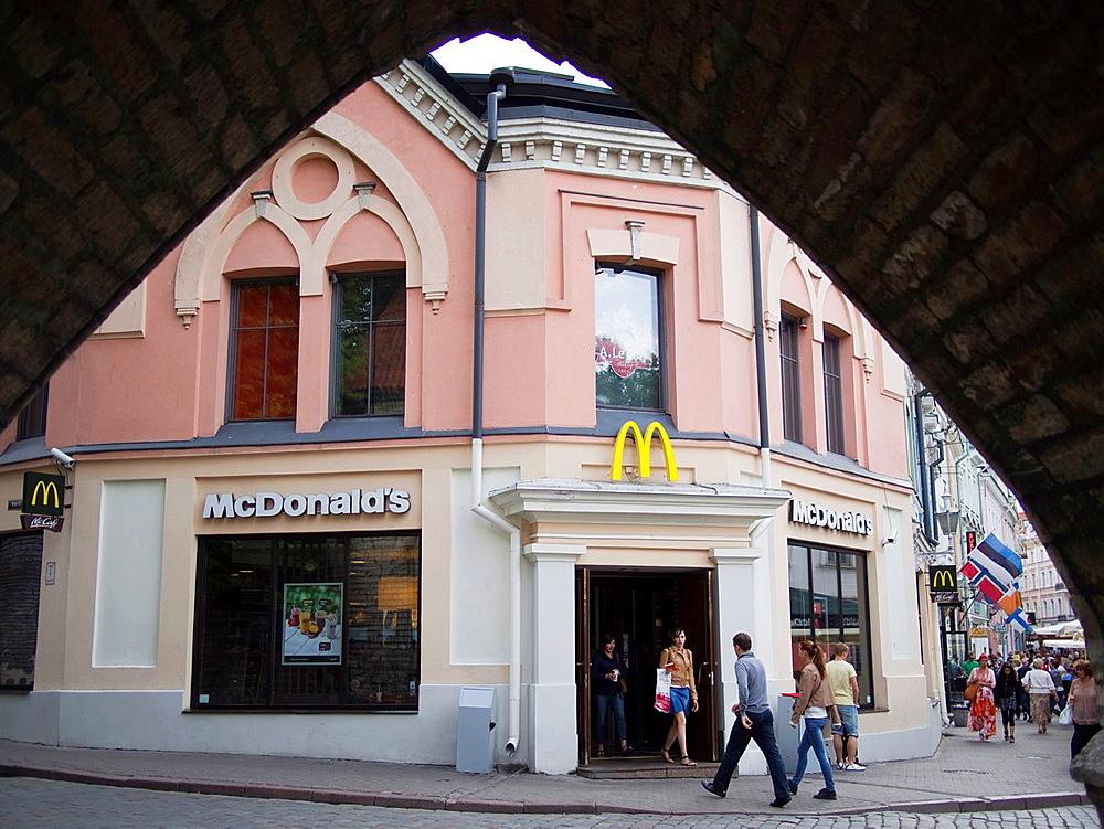 McDonald¥s restaurant in Old City in Tallin, Estonia