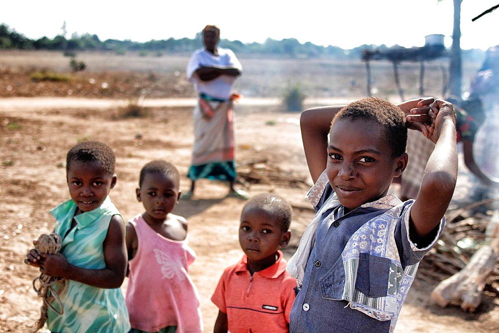 Children in Chalucuane, Mozambique