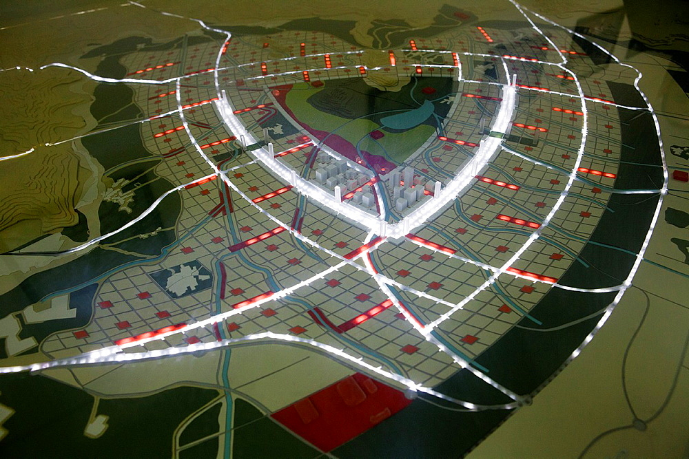 New kabul City is a an ambitious plan to expand the current city  This is a scale model