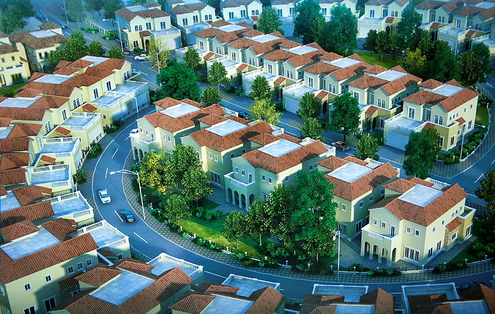 New kabul City is a an ambitious plan to expand the current city  This is an impression of new houses