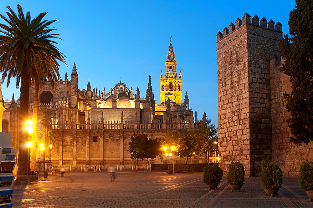 Cathedral and Royal Alcazar, Seville, Spain
