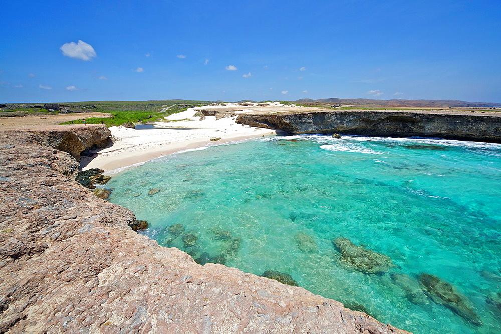 Secluded Sandy Beach of the Caribbean