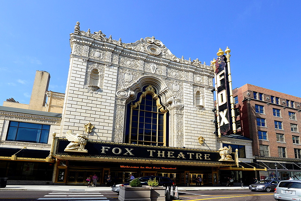 Fox Theatre in Grand Center Theater District St  Louis Missouri MO