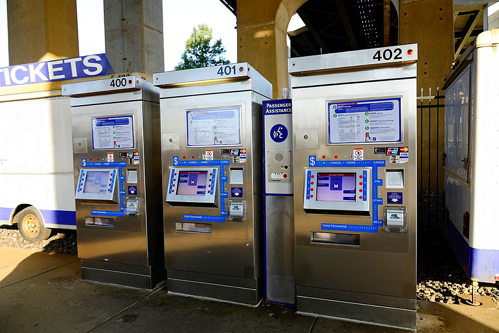 Ticket Machine Mass Transit for Commuters St  Louis Missouri