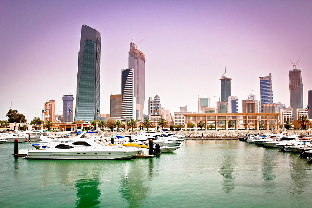 skyline at Souk Sharq Marina,, Kuwait, Kuwait City