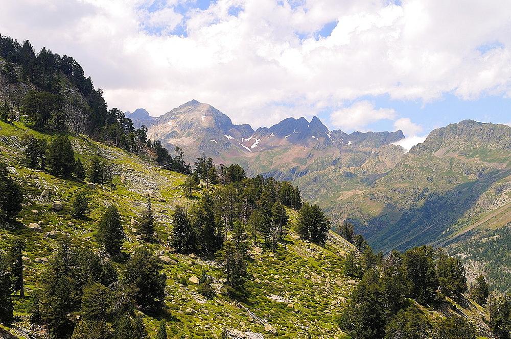 Posets-Maladeta Natural Park  Pyrenees mountains  Huesca province  Aragon  Spain