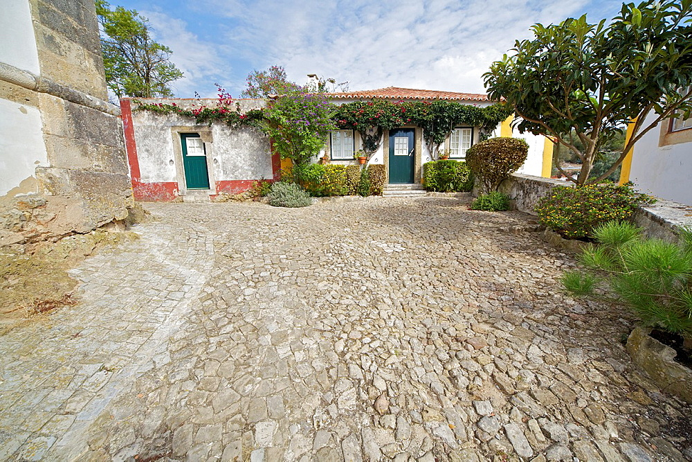 Rustic Weathered Villa of the Medieval Village of Obidos