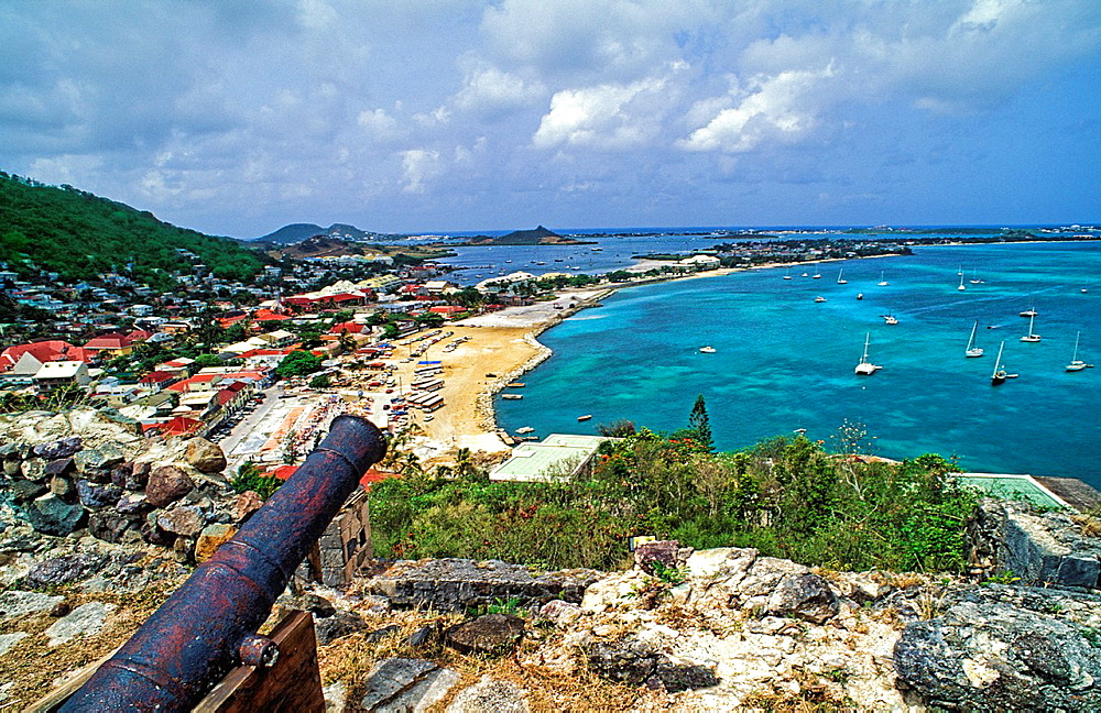 Fort with Cannons above Marigot in Saint Martin
