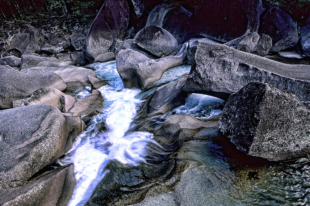 Water Rushing Over Rocks at The Boulders in Cairns Australia Queensland Babinda