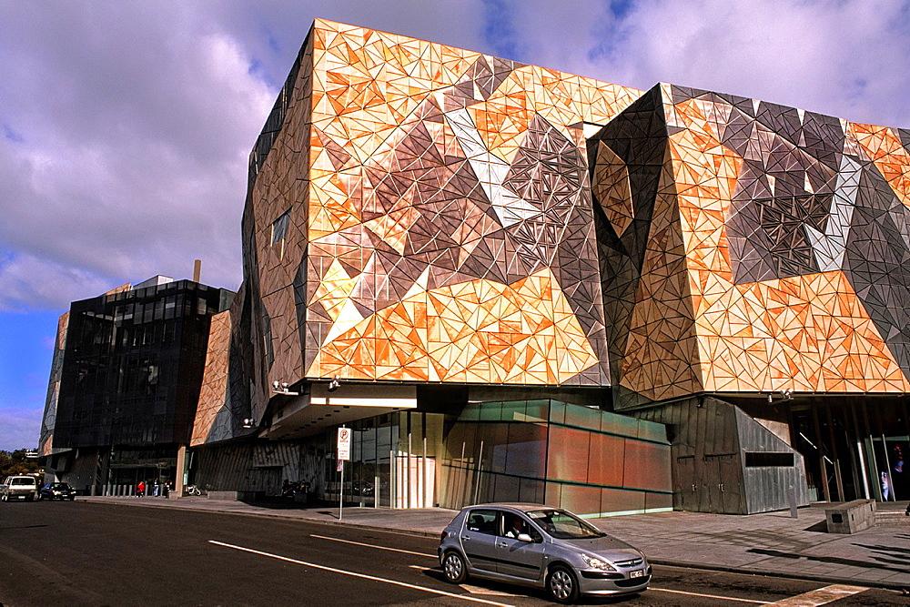 New Federation Square Building in Melbourne Victoria Australia