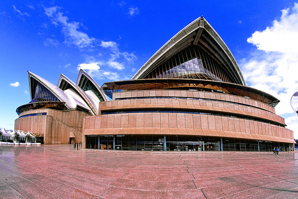 Closeup of Famous Sydney Opera House in New South Wales Australia