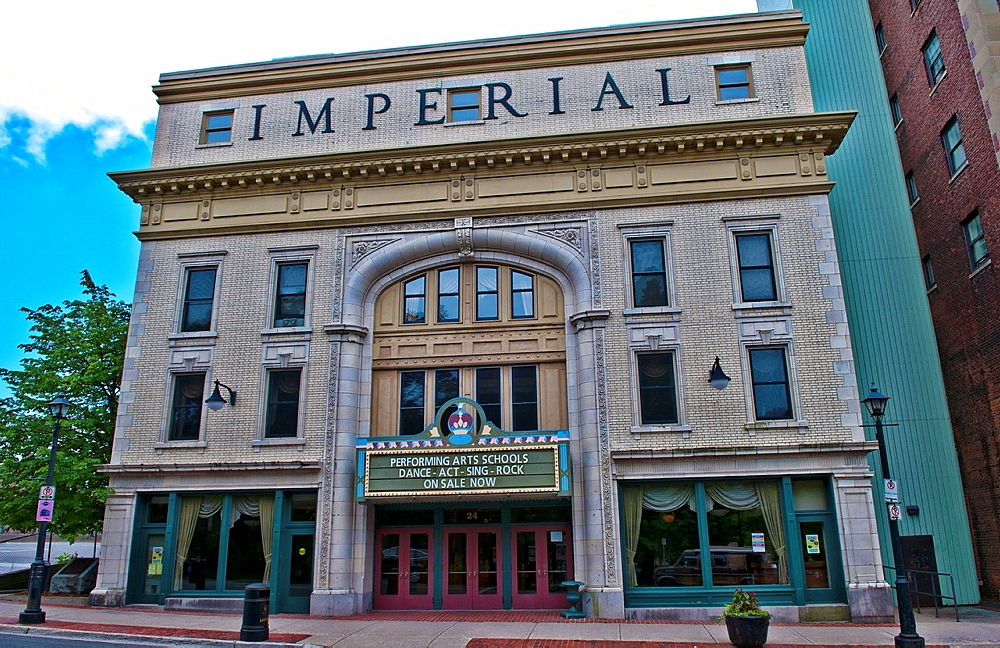 Saint John New Brunswick center city of famous Imperial Theater founded in 1913 downtown