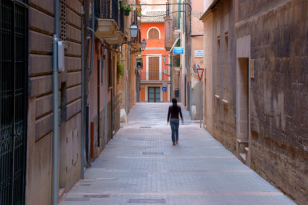 Calle de La Posada de Montserrat is Call, Jewish Quarter Historic center Palma Mallorca Balearic Islands Spain