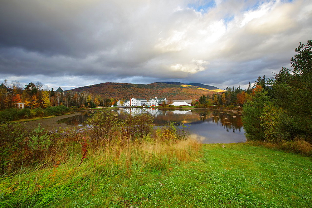 The village of Waterville Valley, New Hampshire, United States of America during the autumn months